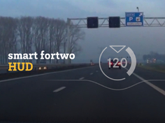 smart fortwo – Head-Up Display
